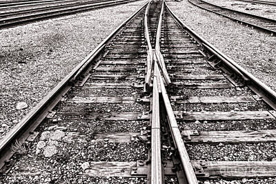 Railroad Tracks Print by Olivier Le Queinec