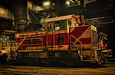 Engine House Photograph - Railroad Worker by Mountain Dreams
