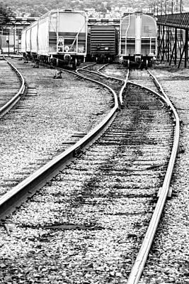Railroad Yard Print by Olivier Le Queinec