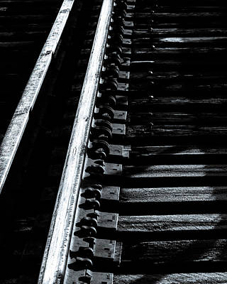 Shadow Photograph - Rails And Ties by Bob Orsillo