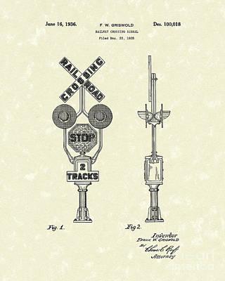 Railway Signal 1936 Patent Art Print by Prior Art Design