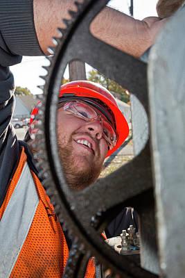 Mechanism Photograph - Railway Signal Maintenance by Jim West