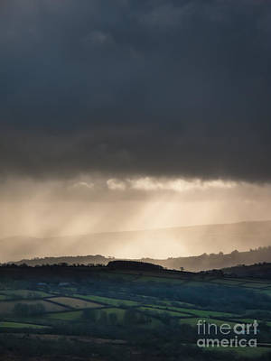 Rain Clouds Over Dartmoor Print by Jan Bickerton