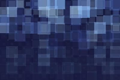 People Digital Art - Rain Geometric Squares Pattern by Frank Ramspott
