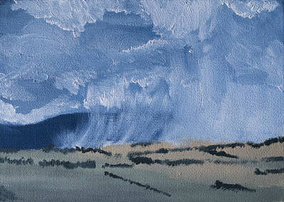 Summer Thunderstorm Painting - Rain In The Valley by Jason Allen