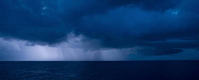 Squall Photograph - Rain Squalls At The Sea, Negril by Panoramic Images