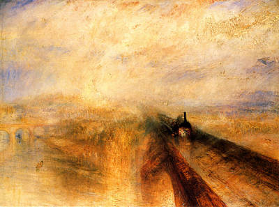 Train Painting - Rain Steam And Speed.  by J M W Turner