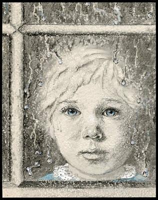 Contemplative Mixed Media - Rain  by Terry Webb Harshman
