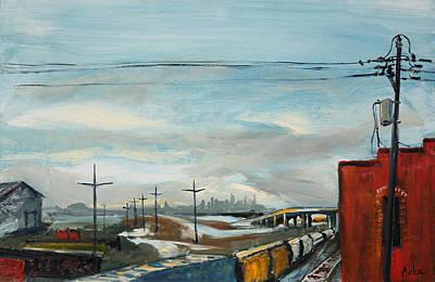 Rain Train Print by Asha Carolyn Young