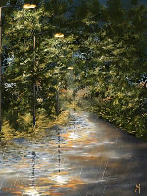 Rain Digital Art - Rain by Veronica Minozzi