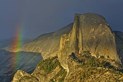 Yosemite Photograph - Rainbow And Half Dome 2 by SC Heffner