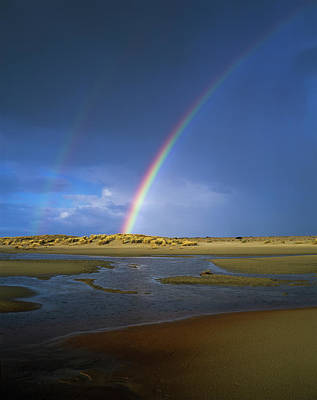 Oregon Dunes National Recreation Area Photograph - Rainbow Appears Over The Mouth by Robert L. Potts