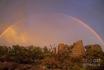 Surreal Landscape Photograph - Rainbow At Chiricahua by Keith Kapple