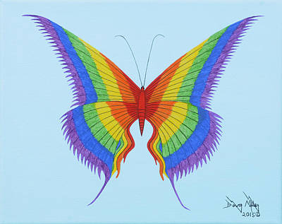 Rainbow Butterfly 3 Print by Doug Miller