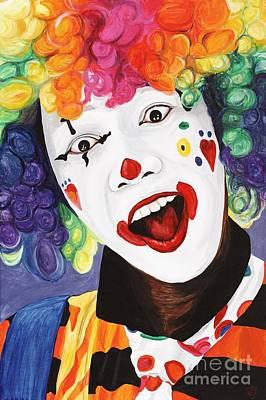 Klown Painting - Rainbow Clown by Patty Vicknair
