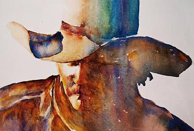 Cowboy Hat Painting - Rainbow Cowboy by Jani Freimann