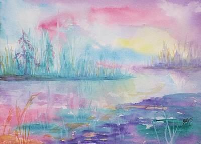 Interior Scene Painting - Rainbow Dawn by Ellen Levinson