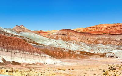 Petrified Forest Arizona Photograph - Rainbow Desert by Nian Chen