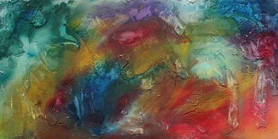 Rust Painting - Rainbow Dreams By Madart by Megan Duncanson