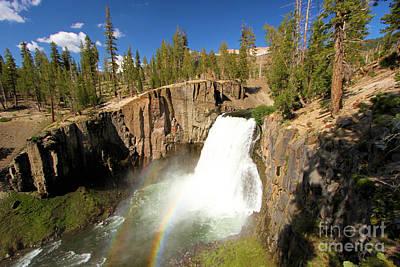 Devils Postpile Photograph - Rainbow Falls Gorge by Adam Jewell