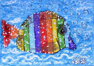Rainbow Fish Print by Kathy Marrs Chandler