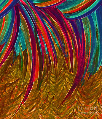 Good Luck Mixed Media - Rainbow Gold By Jrr by First Star Art