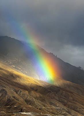 Awe Photograph - Rainbow by Hitendra SINKAR