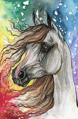 Rainbow Horse 5  Original by Angel  Tarantella