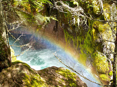 Rainbow In Avalanche Creek Canyon In Glacier National Park-montana Original by Ruth Hager