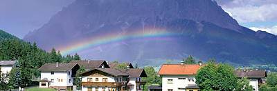 Rooftop Photograph - Rainbow Innsbruck Tirol Austria by Panoramic Images