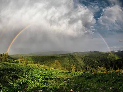 Rainbow Light And Form Print by Leland D Howard