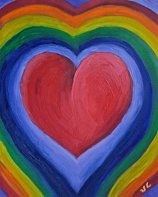 Pride Painting - Rainbow Love by Victoria Lakes