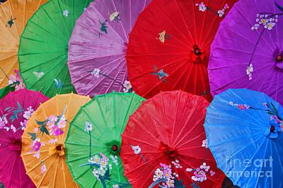 Rainbow Of Parasols   Print by Alexandra Jordankova
