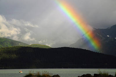 Resurrection Photograph - Rainbow Over Seward And Resurrection by Michel Hersen