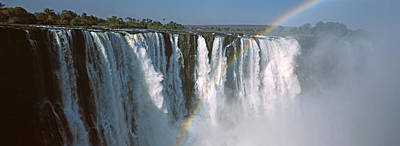 Rainbow Over Victoria Falls, Zimbabwe Print by Panoramic Images