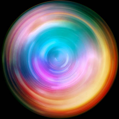 Mandala Photograph - Rainbow Spin Art by The  Vault - Jennifer Rondinelli Reilly