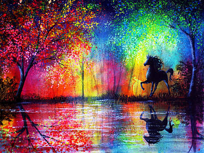 Rainbow Stallion Print by Ann Marie Bone