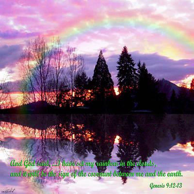 Rainbow Sunset Genesis Print by Michele Avanti