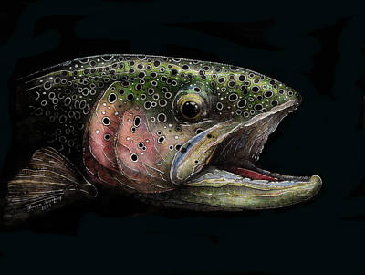 Rainbow Trout Head Shot #1 Original by Brian Murphy