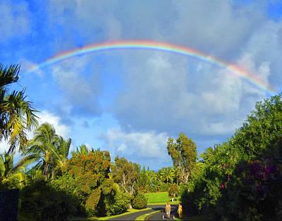 Haleiwa Photograph - Rainbow Walk At Haiku by Stacy Vosberg