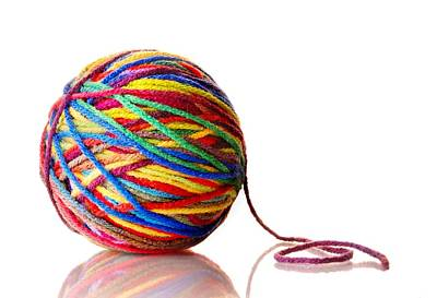 Rainbow Yarn Print by Jim Hughes