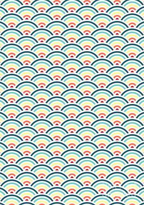 Rainbowaves Pattern Light Print by Freshinkstain