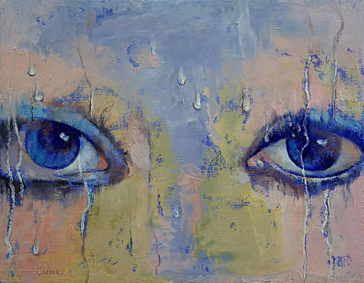 Surrealistic Painting - Raindrops by Michael Creese