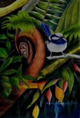 Rainforest Drawing - Rainforest Chatter by Sandra Sengstock-Miller