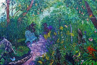 Rainforest Gardens Original by Linda J Bean
