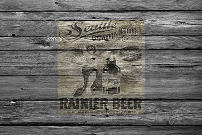 Hops Photograph - Rainier Beer by Joe Hamilton