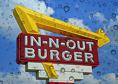 Raining Cali Classic Burgers Print by Stephen Stookey
