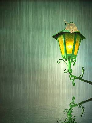 Mouse Mixed Media - Raining by Sharon Lisa Clarke