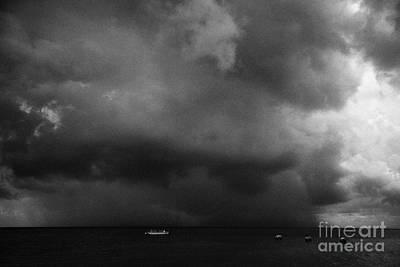 Rainstorm Thunderstorm Storm Clouds Approaching Key West Florida Usa Print by Joe Fox