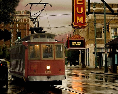 Streetcar Photograph - Rainy Day In Memphis by Don Wolf